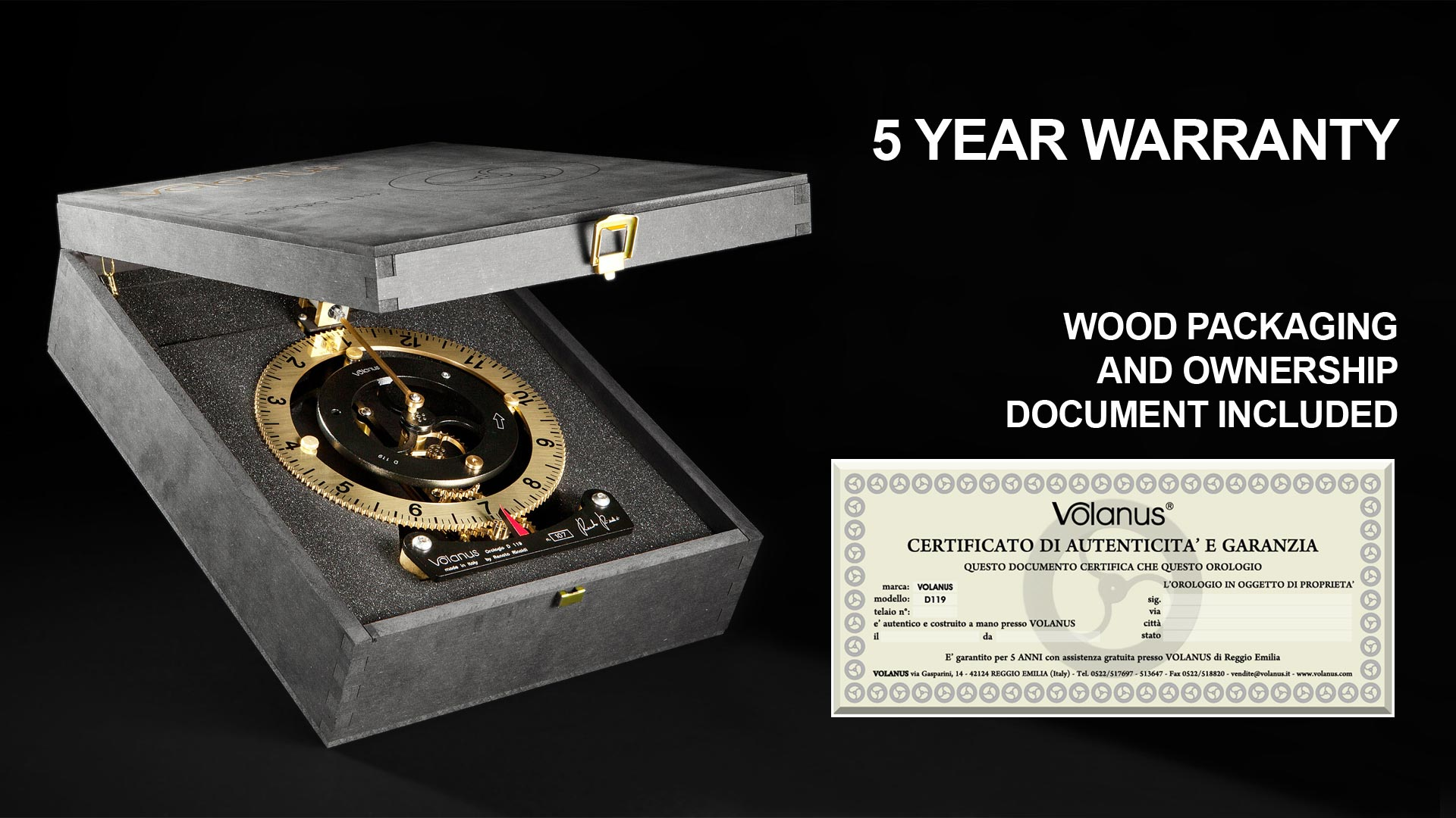 Volanus Clocks Packaging