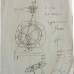 Volanus movement first idea original sheet by Renato Rinaldi