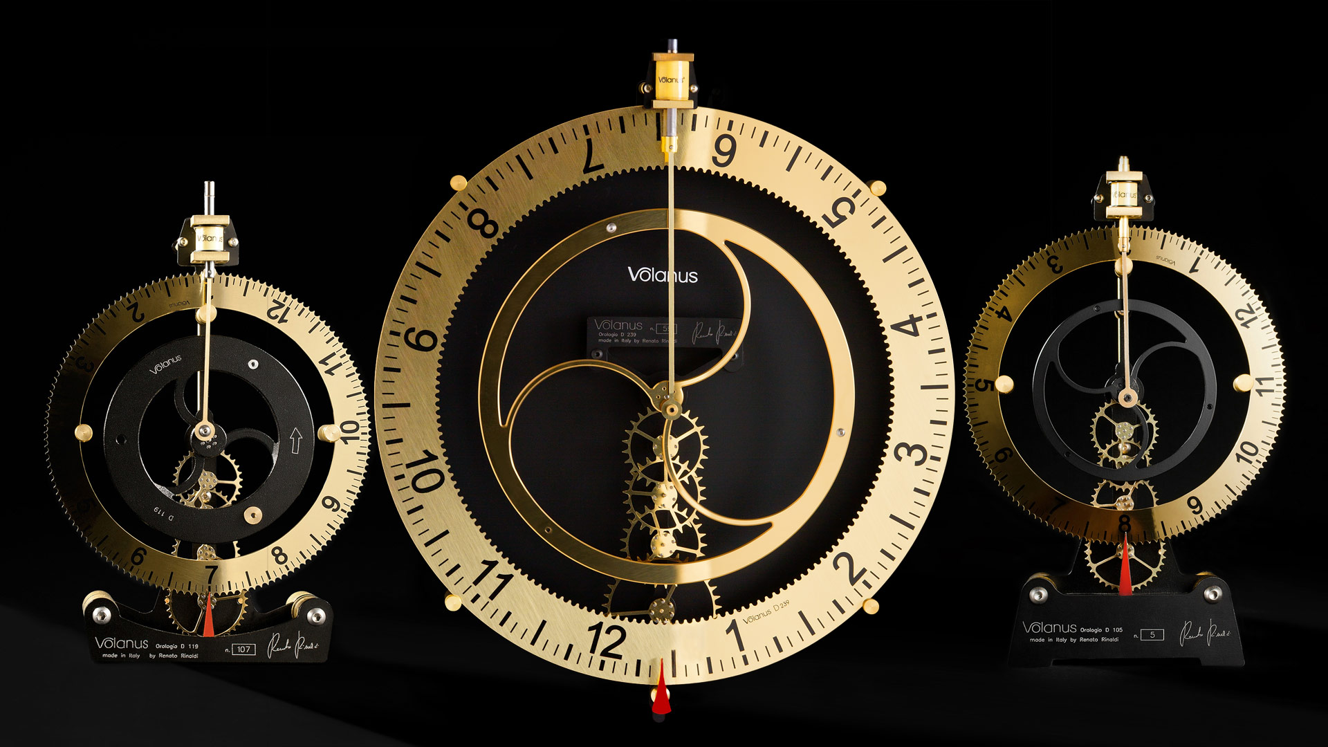 Volanus Luxury Clocks the 3 Models